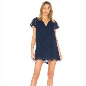 Tularosa Carson Pom Pom Trim Dress in Night